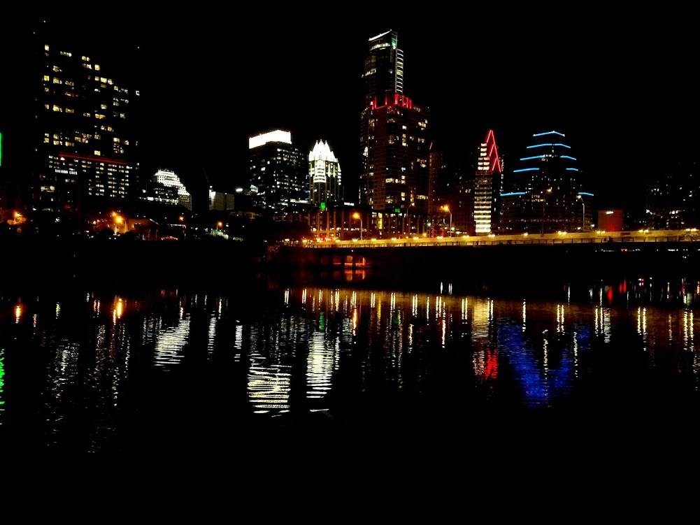 Skyline of Austin, Tx. for New Years holiday tradition