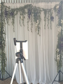 DIY Wedding Photo Booth Backdrop and iPad stand