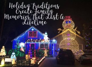 holiday traditions photo of christmas lights giants snowman in front of house