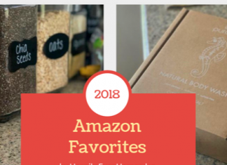 2018 Amazon Favorites cup, instant pot, chalkboard stickers, and puracy