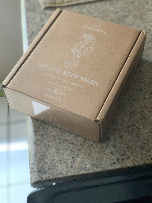 Puracy box of natural body wash