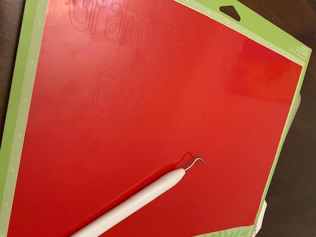 DIY Gift Cricut Weeding tool on vinyl