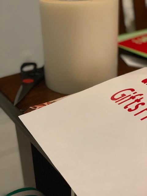 DIY Gift Cricut Transfer Tape On Table Next to Scissors