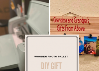 DIY Gift Cricut Wooden Photo Pallet