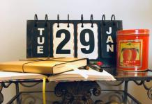 five ways to live an organized life table with book and calendar