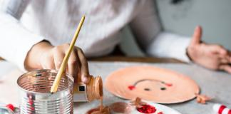 indoor activities for kids painting a smiley face