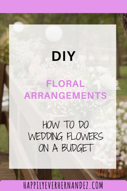 DIY Floral Arrangements in mason jars