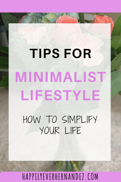 Minimalist Lifestyle Tips How to Simplify Your Life Bouquet of Flowers