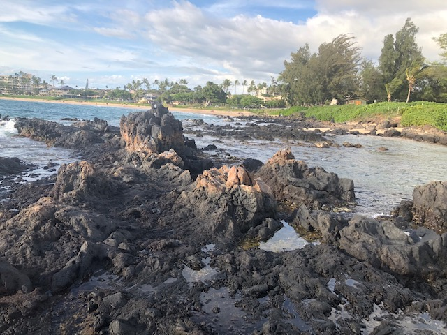 maui travel guide kamaole beach park rocks in ocean