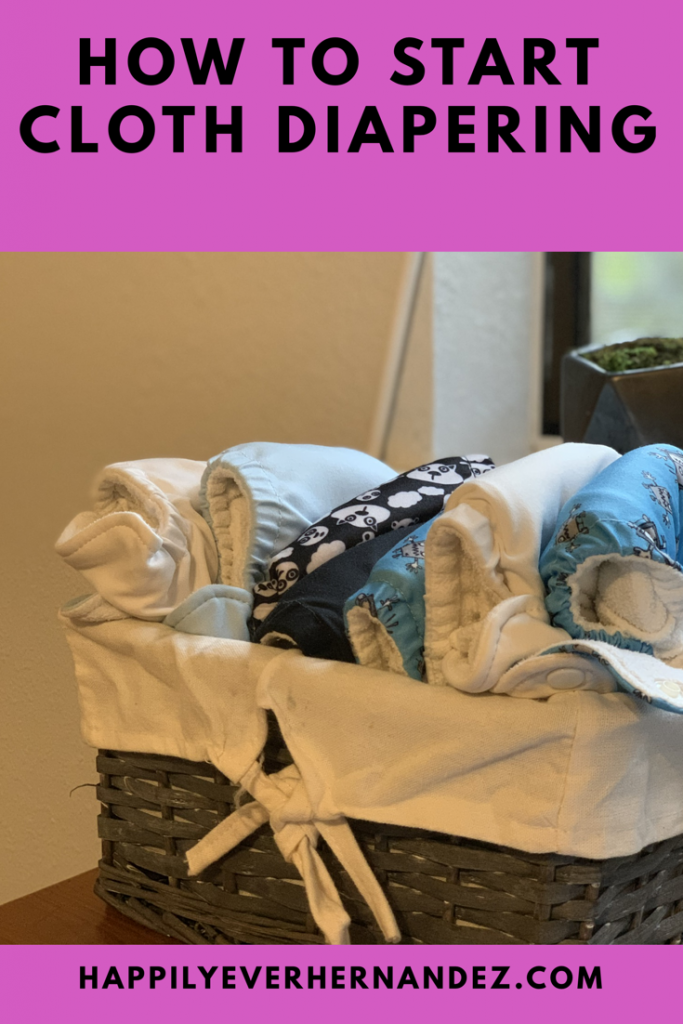 How to cloth diaper basket with cloth diapers