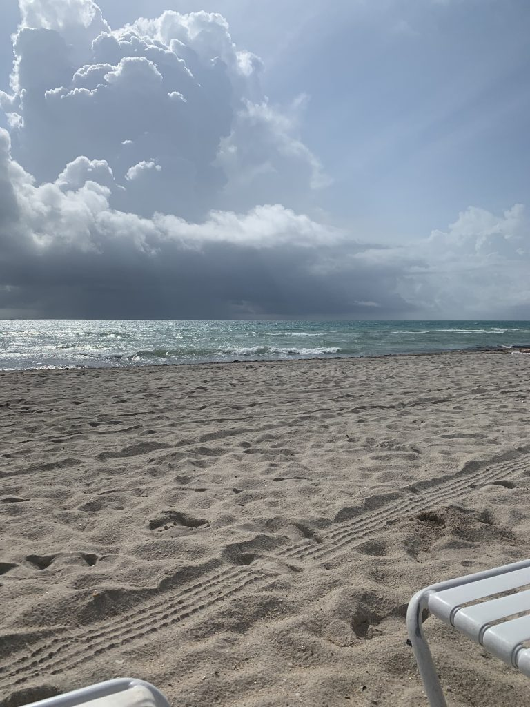sand and ocean of Miami Beach