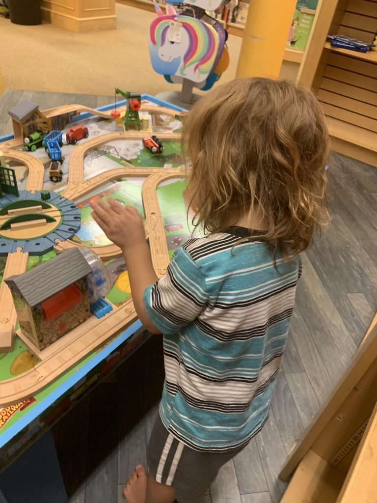 things to do in Austin with toddlers barnes and noble train table